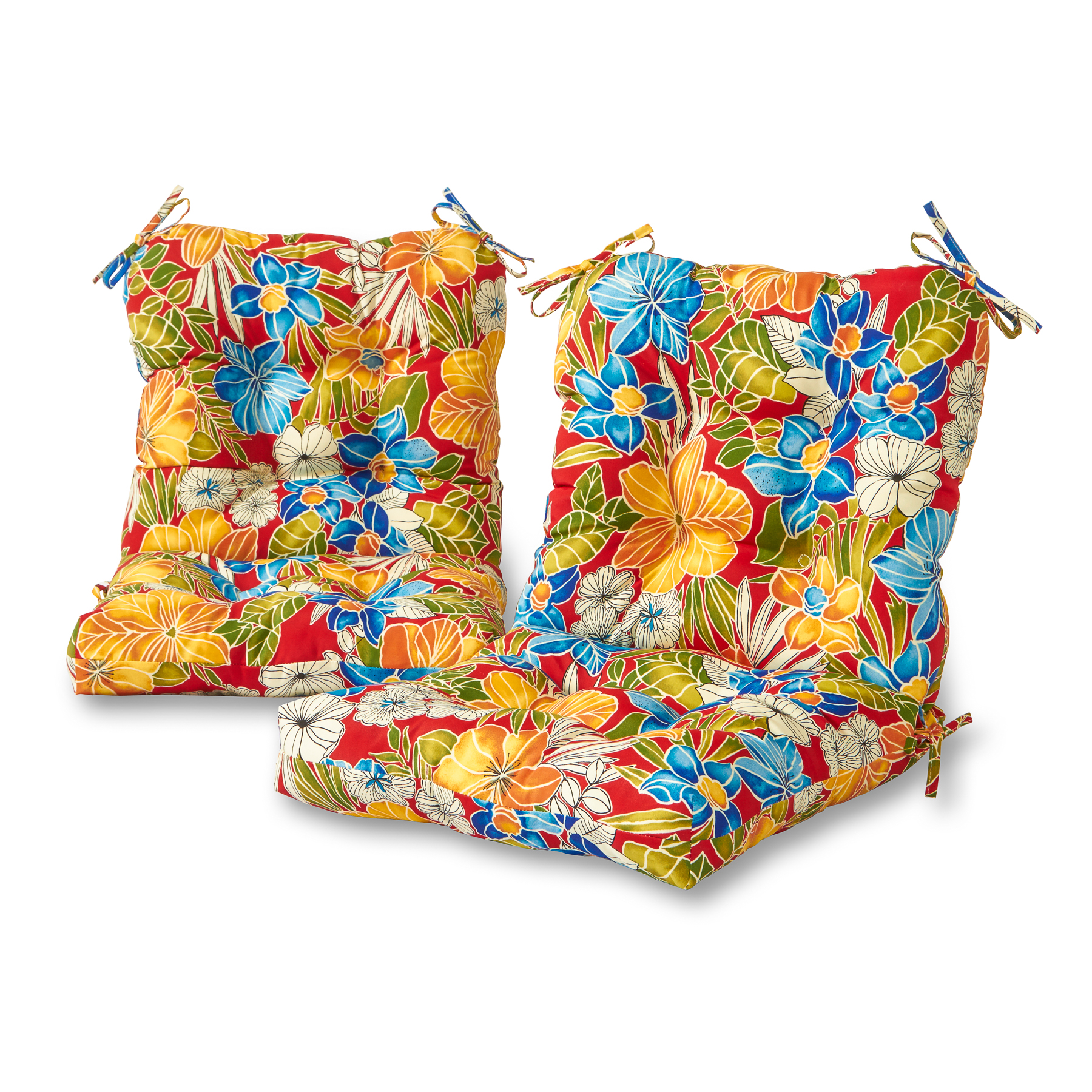 Greendale Home Fashions Aloha Floral Outdoor Chair Cushion, Set of 2