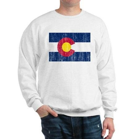 Colorado Crew Sweatshirt - CafePress - Colorado Flag - Crew Neck Sweatshirt