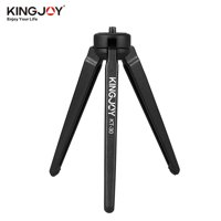 KINGJOY Portable Mini Tripod Stabilizer Stable Aluminium Alloy Desktop Tabletop Three-leg Stand Holder Support Base with 1/4 Inch Screw for GoPro Cameras DSLR Camcorder for Stabilizers of ZHIYUN FEI