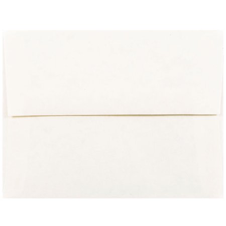 "JAM Paper A2 Invitation Envelope - 4 3/8"" x 5 3/4"" - Parchment White Recycled - 50/pack"
