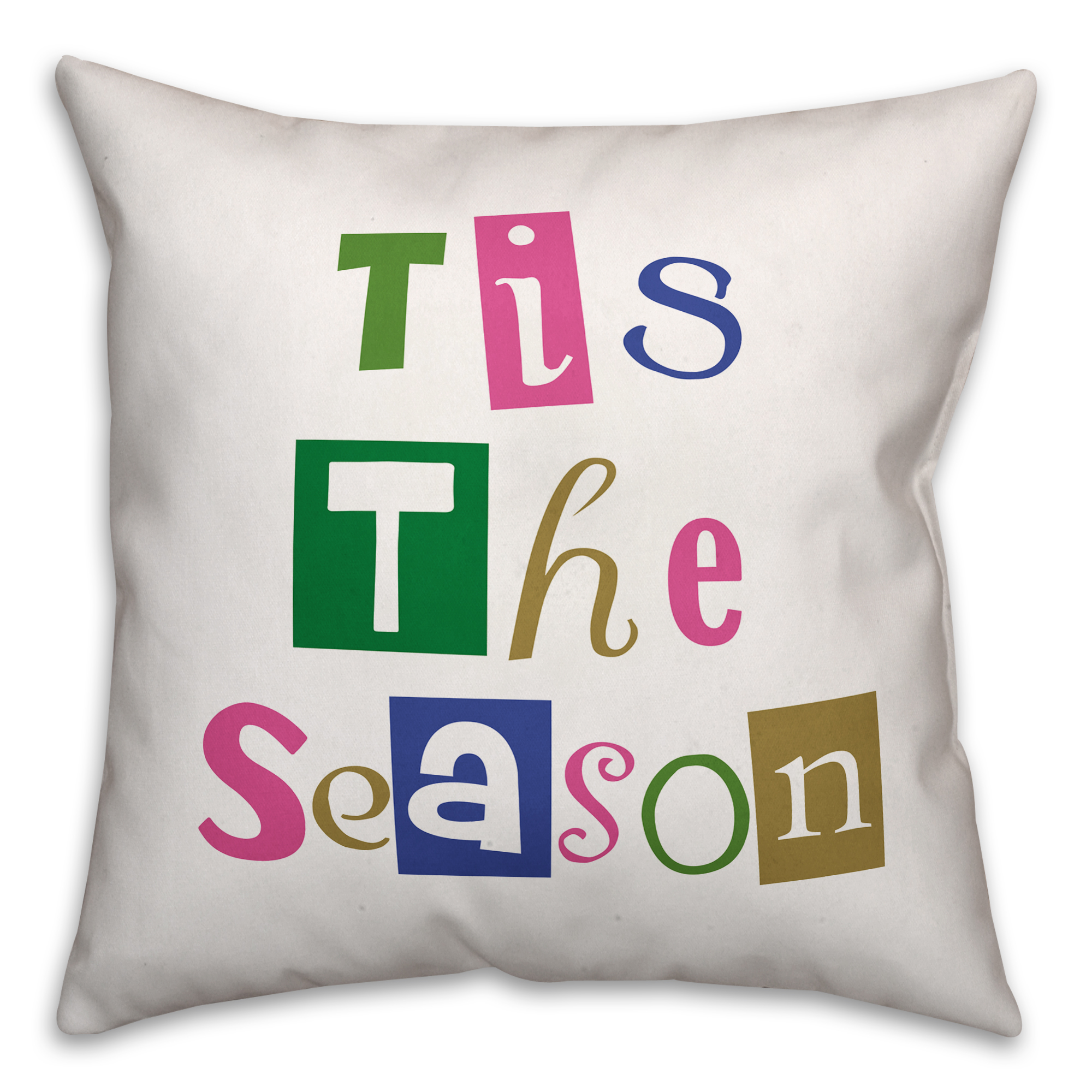 Tis the Season 18x18 Spun Poly Pillow