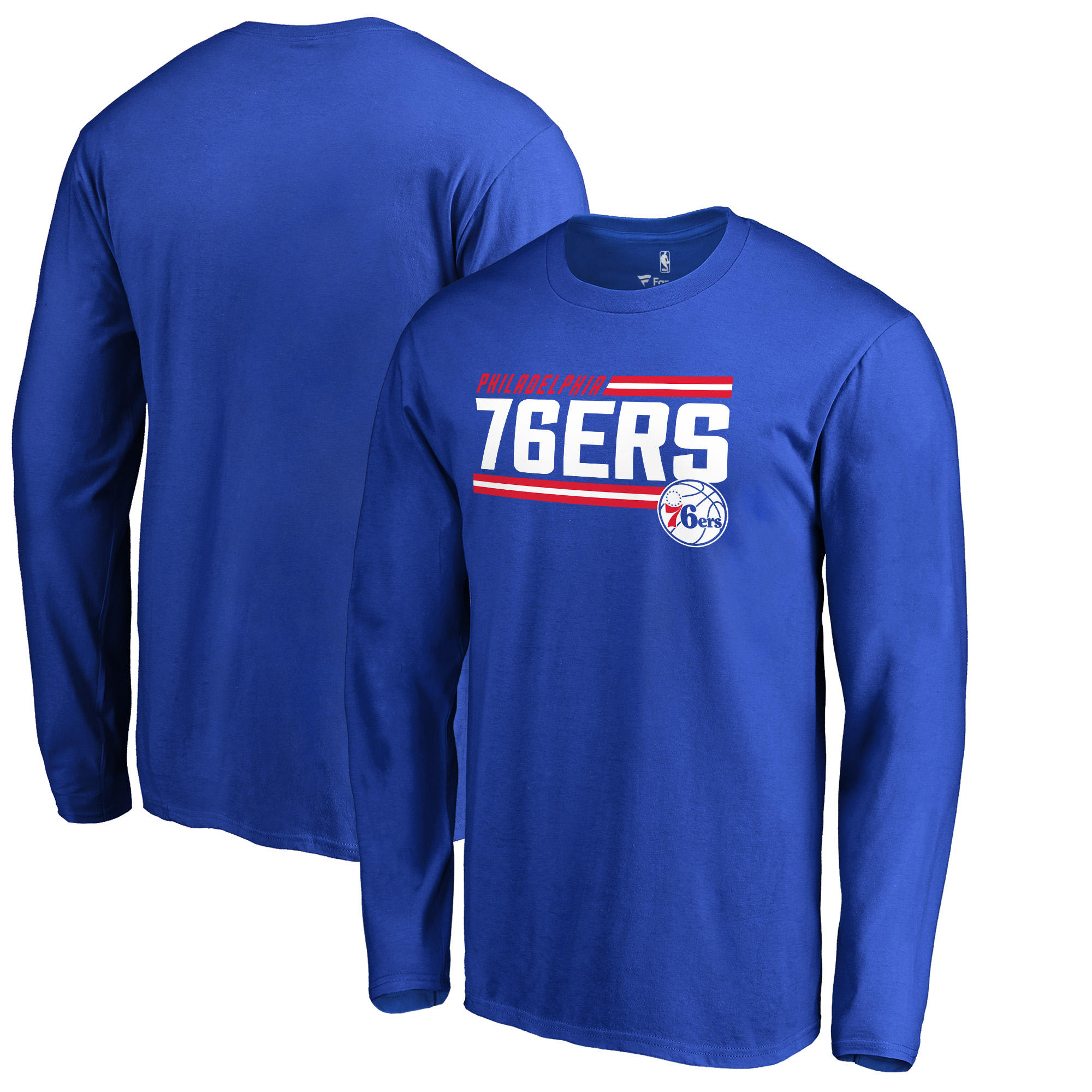 Philadelphia 76ers Fanatics Branded Onside Stripe Long Sleeve T-Shirt - Royal