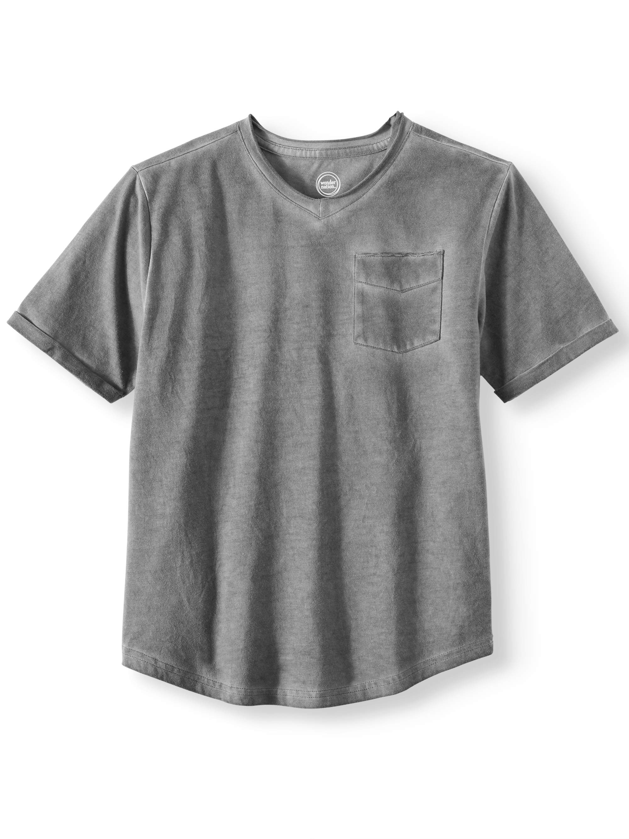 Fashion Solid Knit V-Neck Tee (Little Boys & Big Boys)