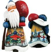 G Debrekht Masterpiece Winter Day Delight Childhood Delight Figurine