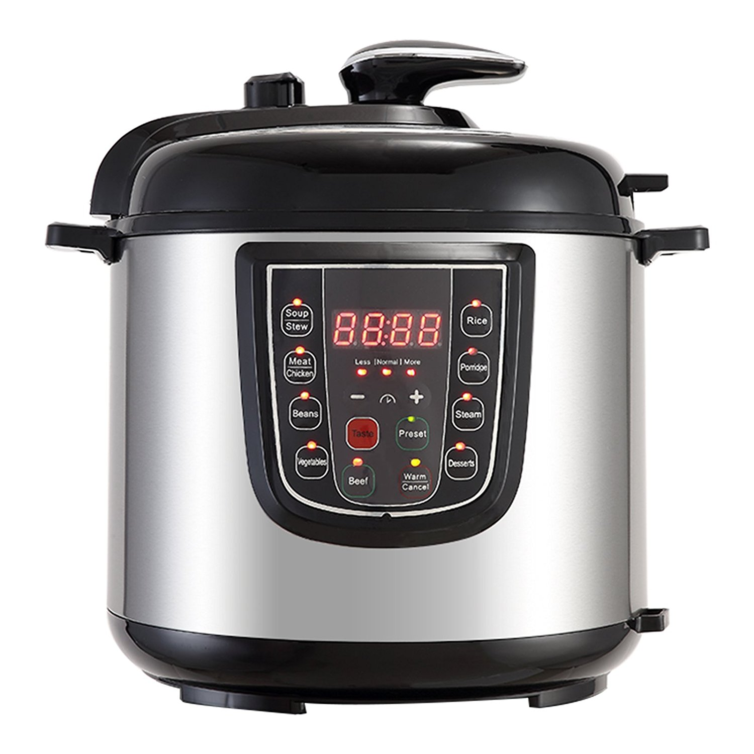 Mecor 6QT 5-IN-1 SX100A-W Electric Multi- Use Programmable Cooker (Pressure Cooker,Rice Cooker,Steamer, Warmer,Etc.) Stainless Steel,Silver