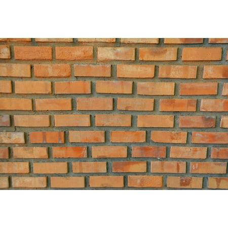Clay Bricks (Canvas Print Construction Red Brick Clay Wall Brick Wall Stretched Canvas 10 x 14 )