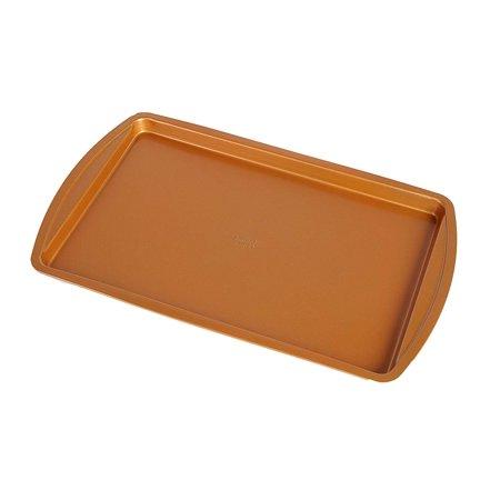 Sharper Image Premium Heavy Duty Copper Baking Sheet - Non Stick- 15 x 10 Cookie Tray - Dishwasher Safe