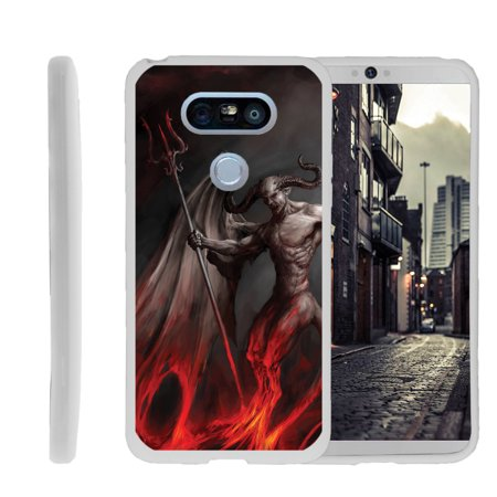 LG G5, H850, H830, H820, US992, G5 SE H845, Flexible Case [FLEX FORCE] Slim Durable TPU Sleek Bumper with Unique Designs - Demon with Wings](Demon With Wings)
