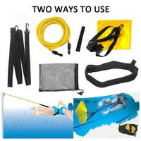 Swim Training Belts, 3M Swim Trainer Tether Stationary Swimming with Swim Parachute, Swim Bungee Cords Resistance Bands