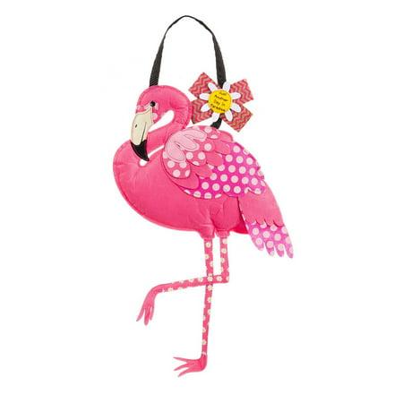 Evergreen Flamingo Outdoor Safe Felt Door Decor, Keep your front door seasonal and stylish with this decorative door hanger By Evergreen Flag](Flamingo Outdoor Decor)