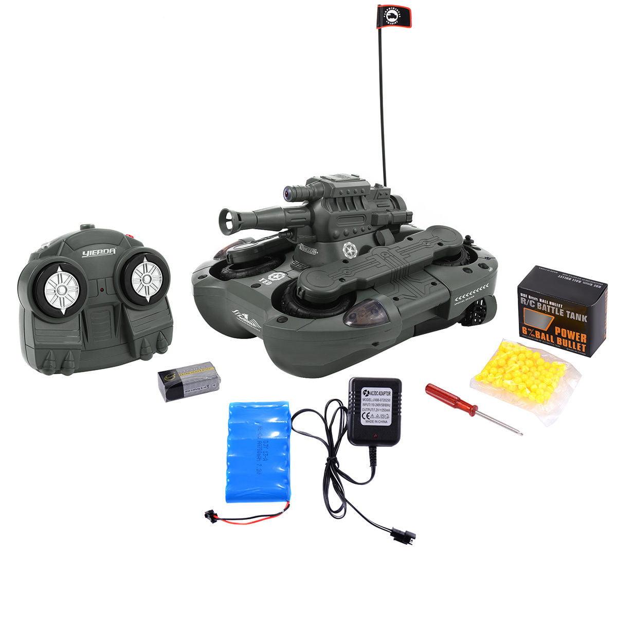 Costway 2.4G 12CH RC Battle Tank 4 Wheel Drive Amphibious...
