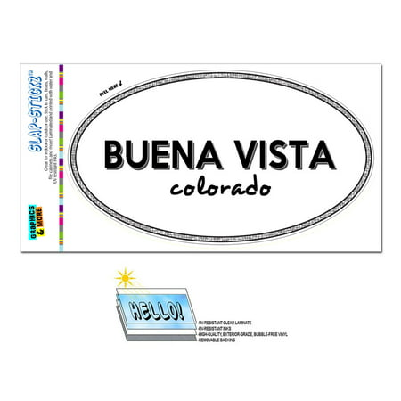 Buena Vista, CO - Colorado - Black and White - City State - Oval Laminated Sticker](City Of Buena Park Jobs)