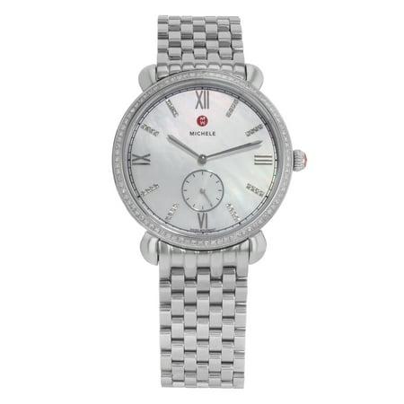 Michele Gracile MWW26A000001 Steel and .40CTTW Diamond Quartz Ladies Watch