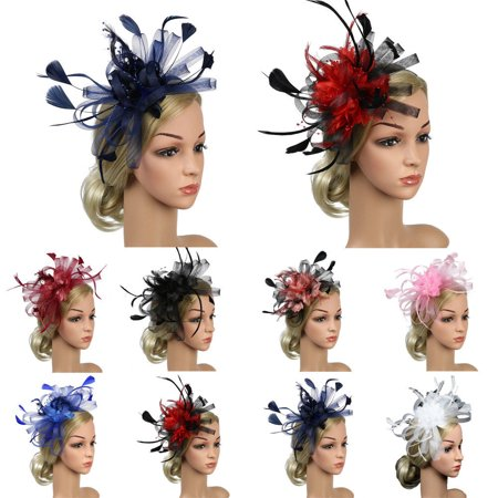 Urkutoba Party Church Derby Cocktail Fascinator Flower Feather Hair Clip Headband Hat Cap - Wholesale Derby Hats