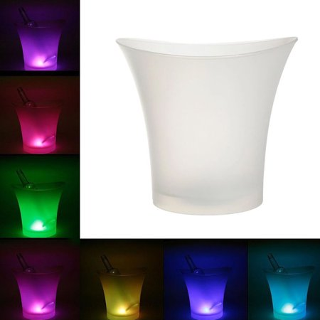 Led Buckle - 5L Colorful LED Light Ice Bucket Champagne Wine Drinks Beer Ice Cooler Bar Party