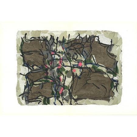 Jean-Paul Riopelle-Composition X-160-1966 Lithograph