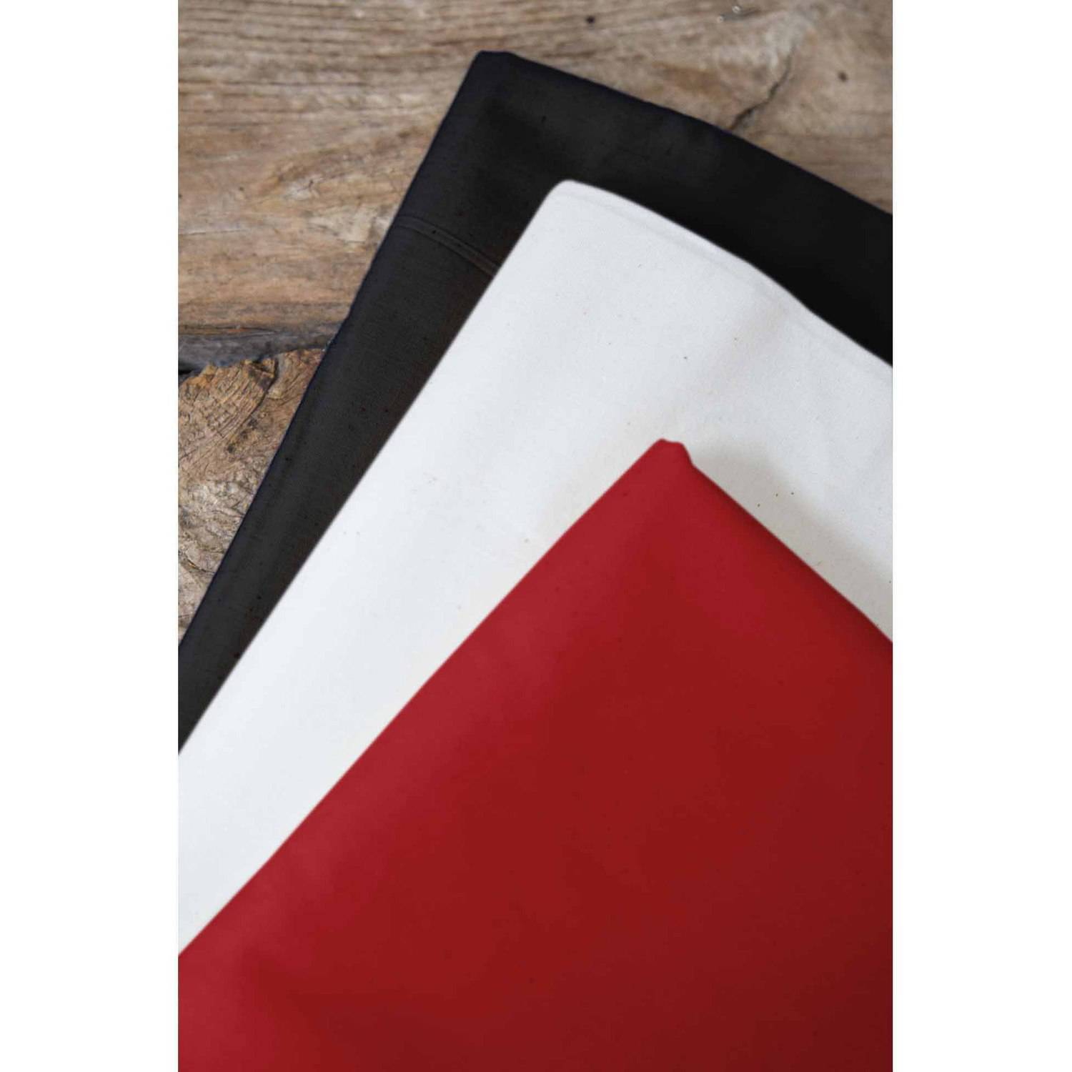 "Back to Basics Palencia Broadcloth Fabric Bundle, White-Black-Real Red, 44/45"" Width, 2-yd Cuts"