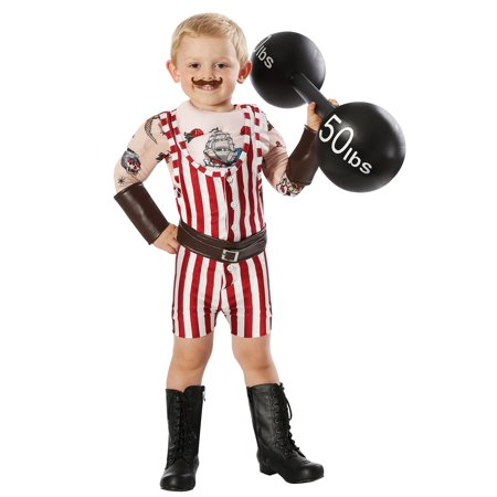 Vintage Strongman Toddler Costume - Baby Strongman Costume