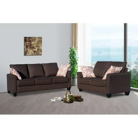 living in style daniela 2 piece living room set walmart com