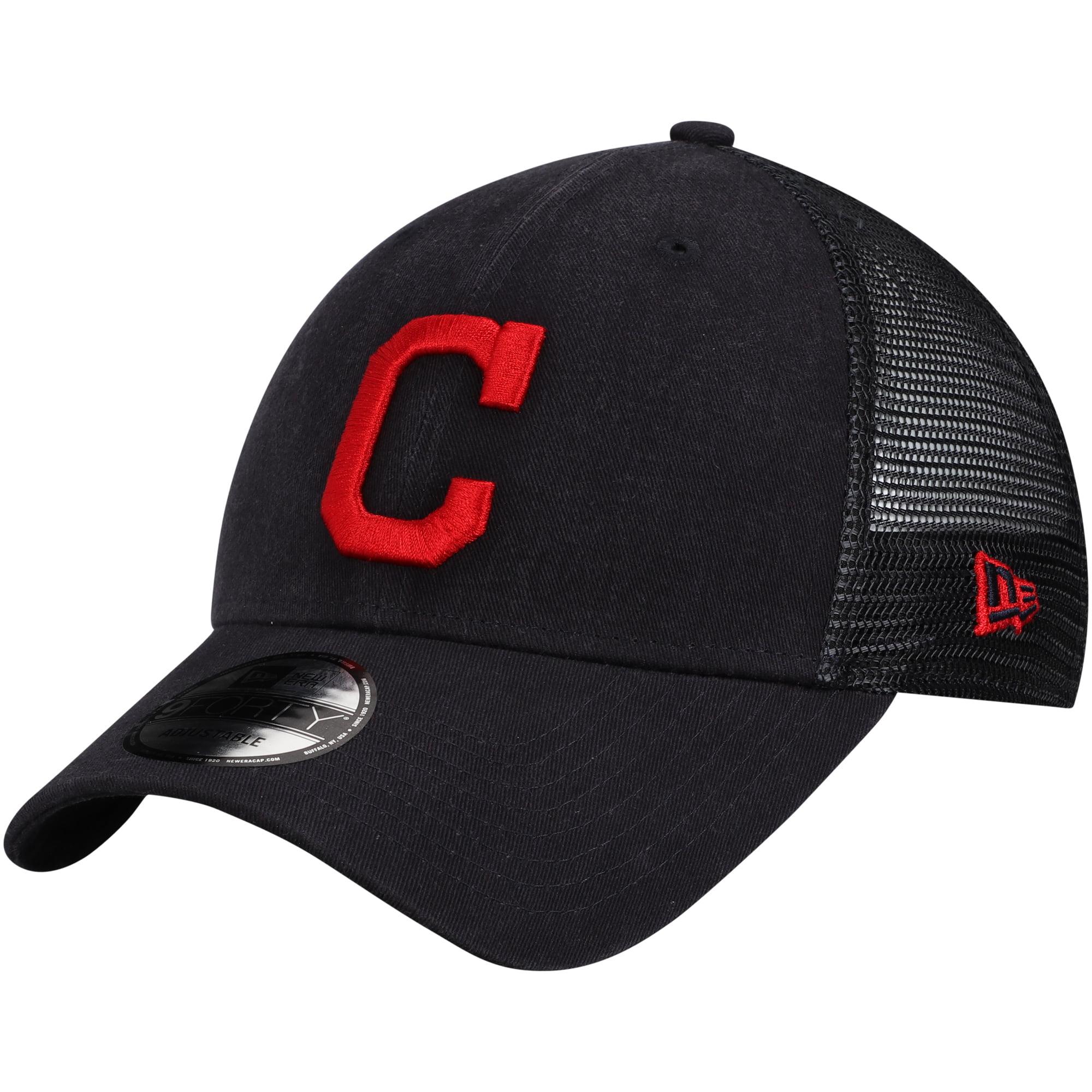 Cleveland Indians New Era Trucker 9FORTY Adjustable Snapback Hat - Navy - OSFA