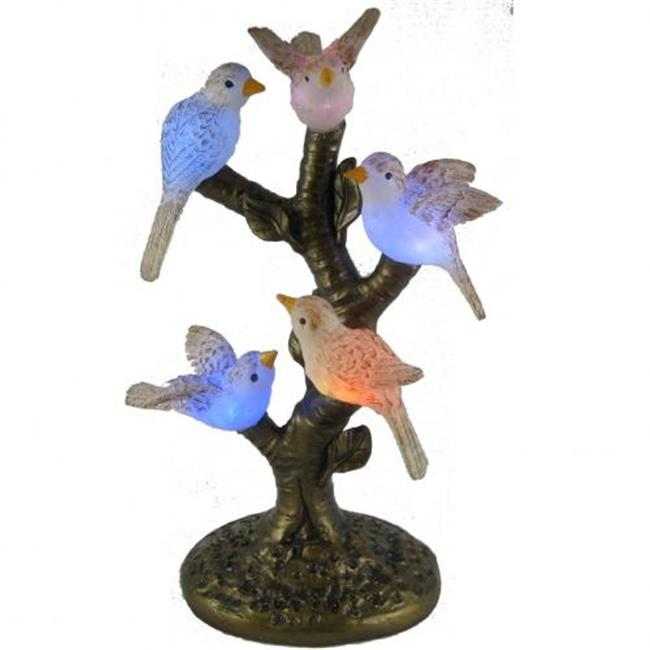 Standard Specialty 1705 New Gorgeous Five Led Glass, Birds Table Lamp