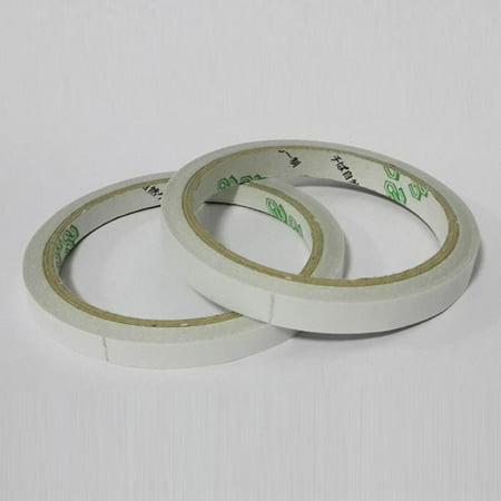 2 Rollos Cinta Adhesiva Doble Cara Transparente para Escuela Oficina 6mm x 10m