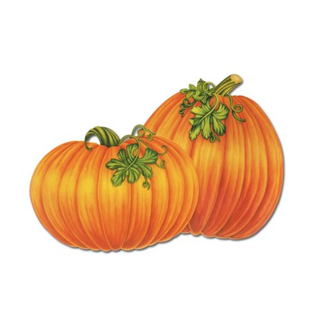 Club Pack of 48 Festive Pumpkin Thanksgiving Cutout Decorations 15.5