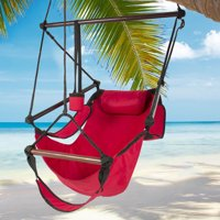 Zimtown Portable Hammock Rope Chair Garden Beach Camping Wood