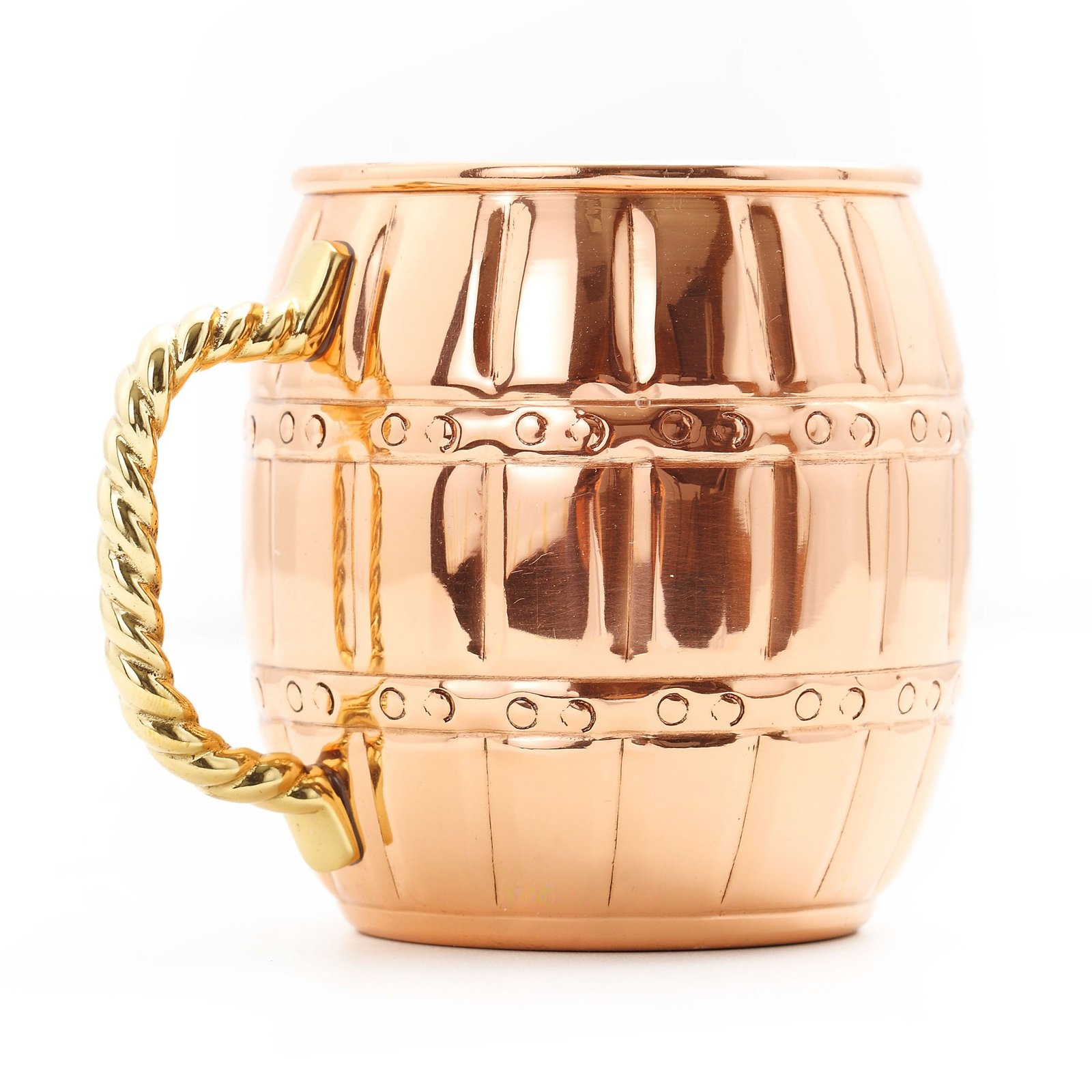 Old Dutch Copper Barrel Mule Mug - Set of 4