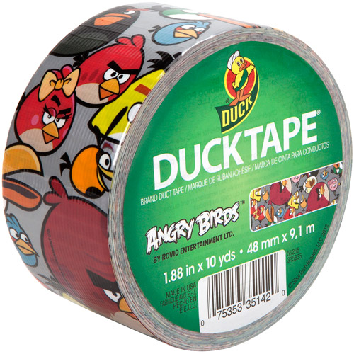 """Duck Brand Duct Tape, 1.88"""" x 10 yard, Angry Birds"""