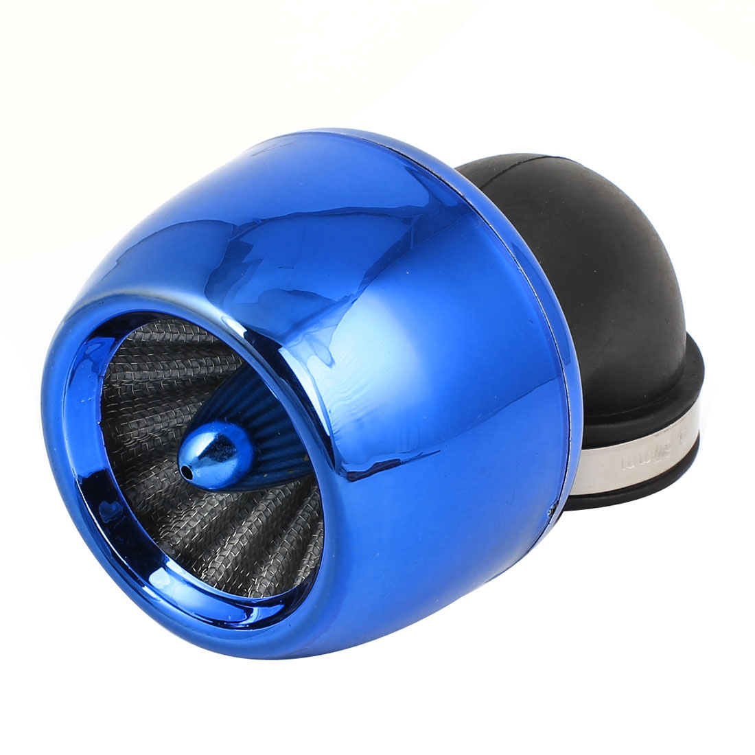 33-57mm Clamp Flange Motorcycle Blue Mesh Air Flow Filter