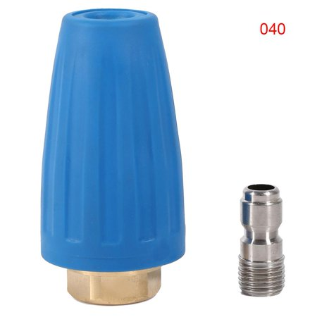 Turbo Pressure Cleaner (HURRISE   Quick Connect High Pressure Washer Cleaner Accessory Spray Rotating Turbo Nozzle 3000PSI, Washer Turbo Nozzle, Rotating)