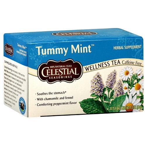 Celestial Seasonings Tummy Mint Tea 20ct Pack of 6 Walmartcom