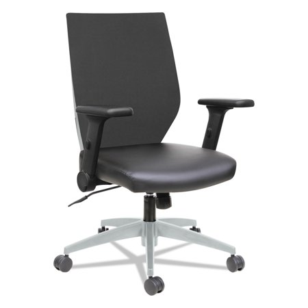 Image of Alera Alera EB-T Series Syncho Mid-Back Flip-Arm Chair, Black/Gray