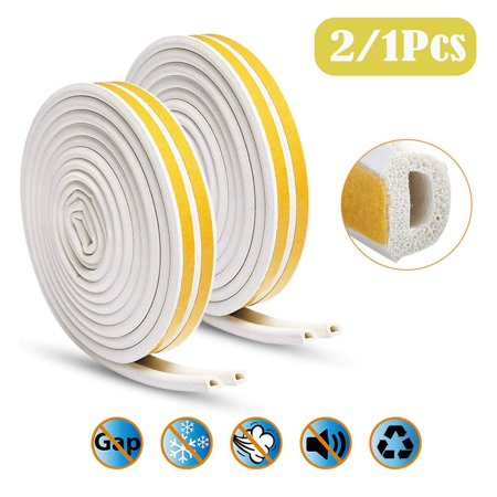 Indoor Weather Stripping, 16Ft(5M) D Type Window Seal Strip for Doors and Windows Soundproofing Weatherstrip Gap Blocker Epdm Soft Seal Weatherstrip