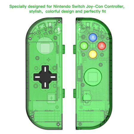 D Pad version Replacement switch housing Case for Nintendo Switch Joy-Con shell game console case (Only Joy con shell Green)