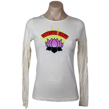 Counting Crows  Lotus Flower Girls Jr  Long Sleeve White Crow Kids T-shirt