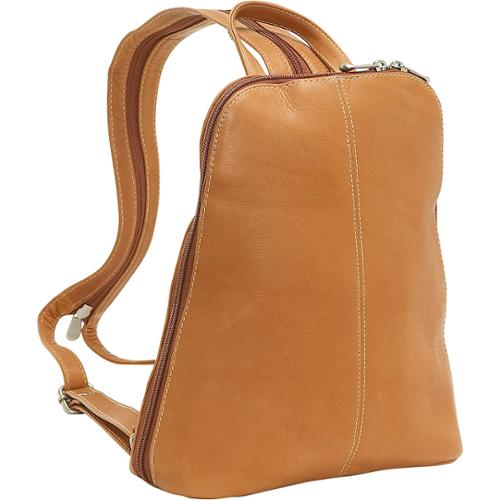 LeDonne Leather U-Zip Womans Sling/ Backpack Tan