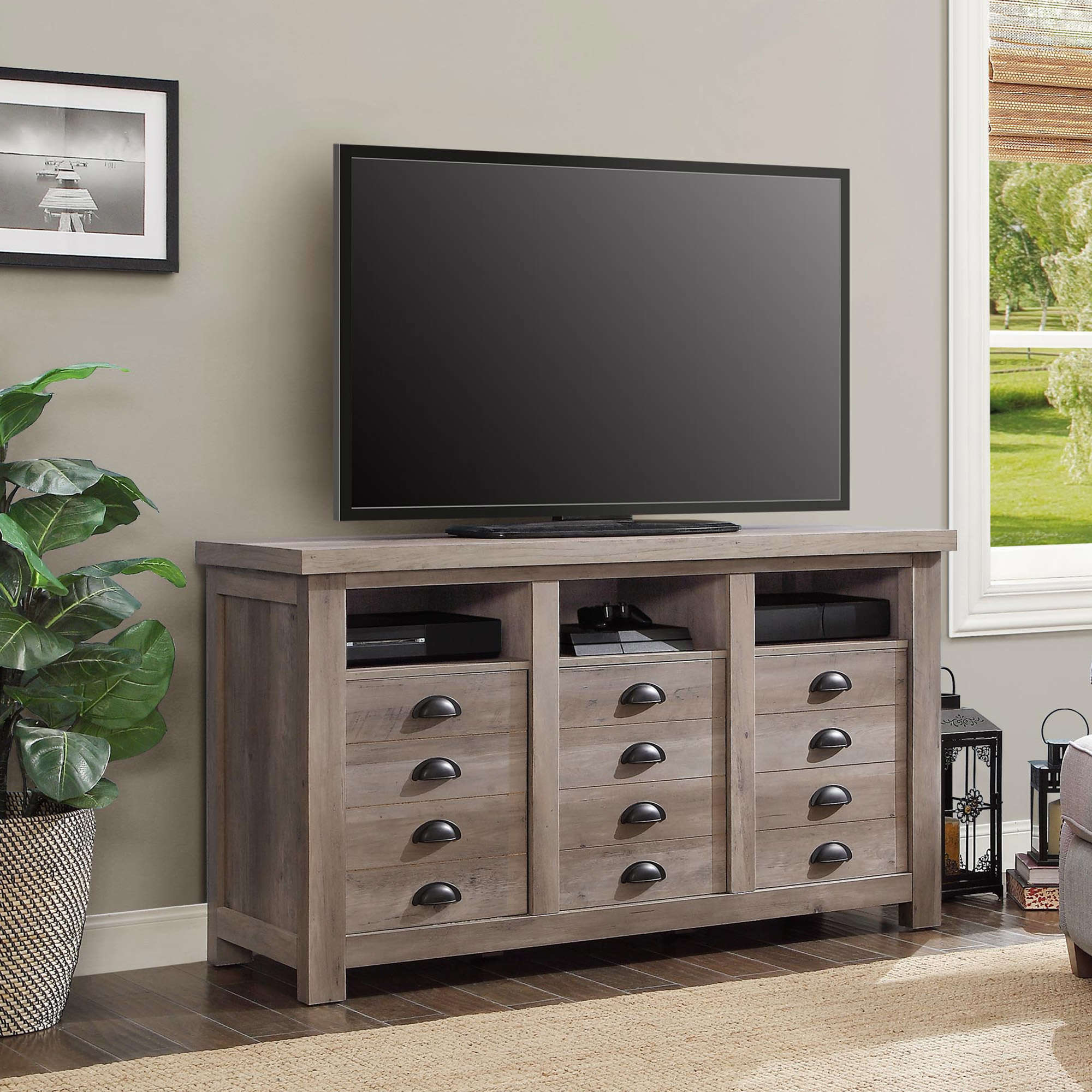 Better Homes And Gardens Granary Modern Farmhouse Printers TV Cabinet,  Multiple Finishes