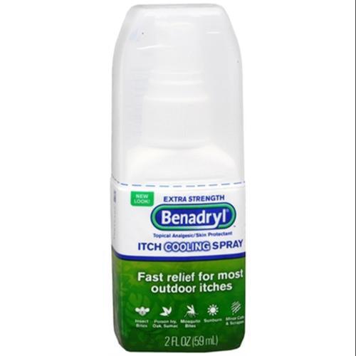 Benadryl Itch Relief Spray Extra Strength 2 oz (Pack of 4)