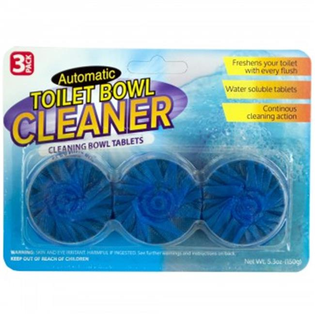 Bulk Buys HX170-60 Automatic Toilet Bowl Cleaning Tablets, 60 Piece