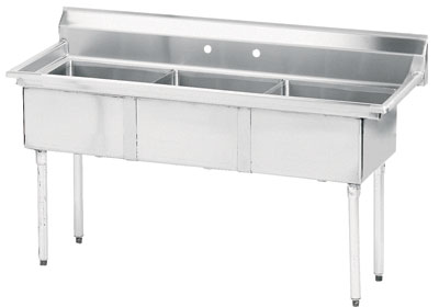 Advance Tabco 35 Fabricated Three Compartment Sink () Fe-3-1014 by Advance Tabco
