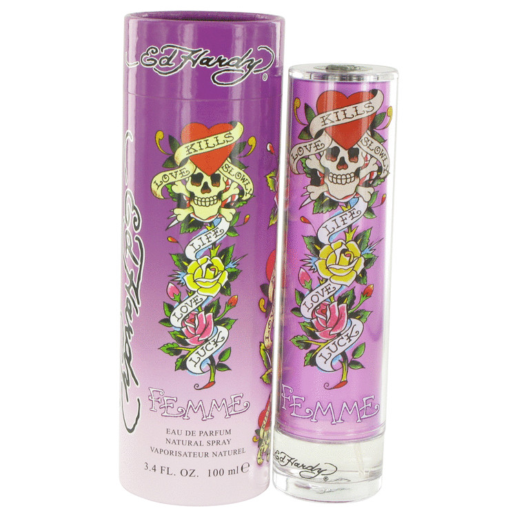 Ed Hardy Femme Eau De Parfum Spray 3.4 oz For Women 100% authentic perfect as a gift or just everyday use