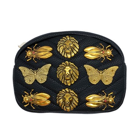 22cd555549f7 Inzi - Inzi Inpired Bees Butterflies and Lions belt bag Black - Walmart.com