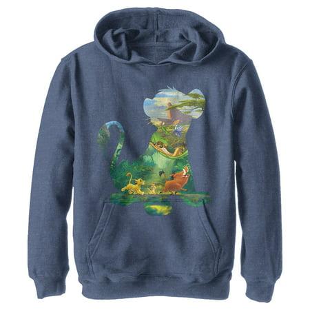 Lion King Boys' Simba Silhouette Pride Rock Hoodie Pride Kids Sweatshirt