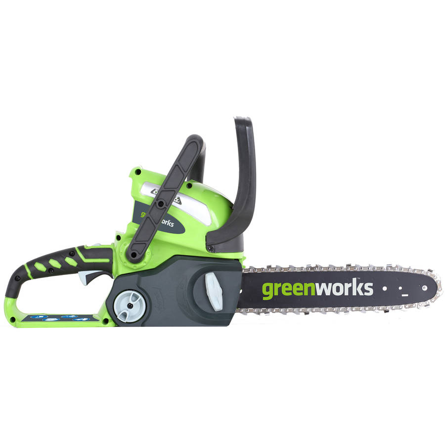 "GreenWorks 2000219 40V 12"" Cordless Chainsaw, Includes 2Ah Battery and Charger by Sunrise Global Marketing"