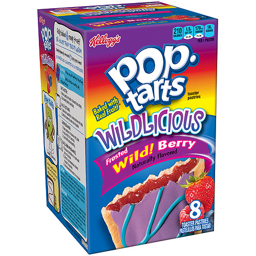 Kellogg's Pop-Tarts Wildlicious Frosted Wild! Berry, 8 ct (12 Pack)