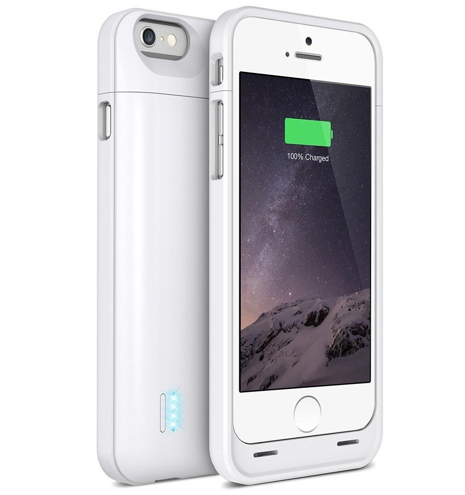 uNu DX-6 Protective 3000mAh Battery Case for iPhone 6 - White