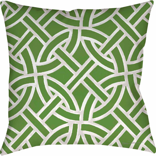 IDG Inner Circles Green Pillow