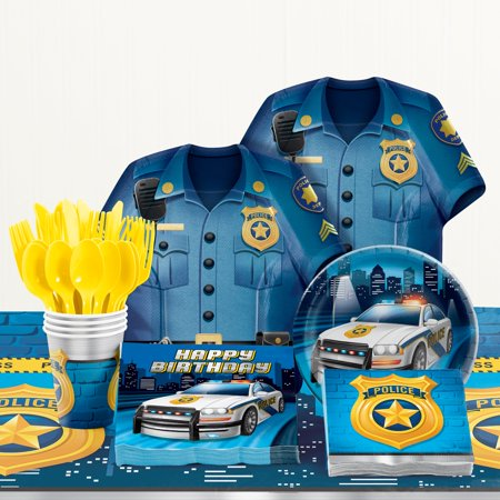 Police Birthday Party Supplies